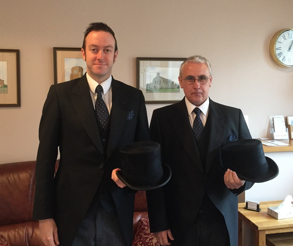 Our funeral directors, Mike Jolly & Michael Branney